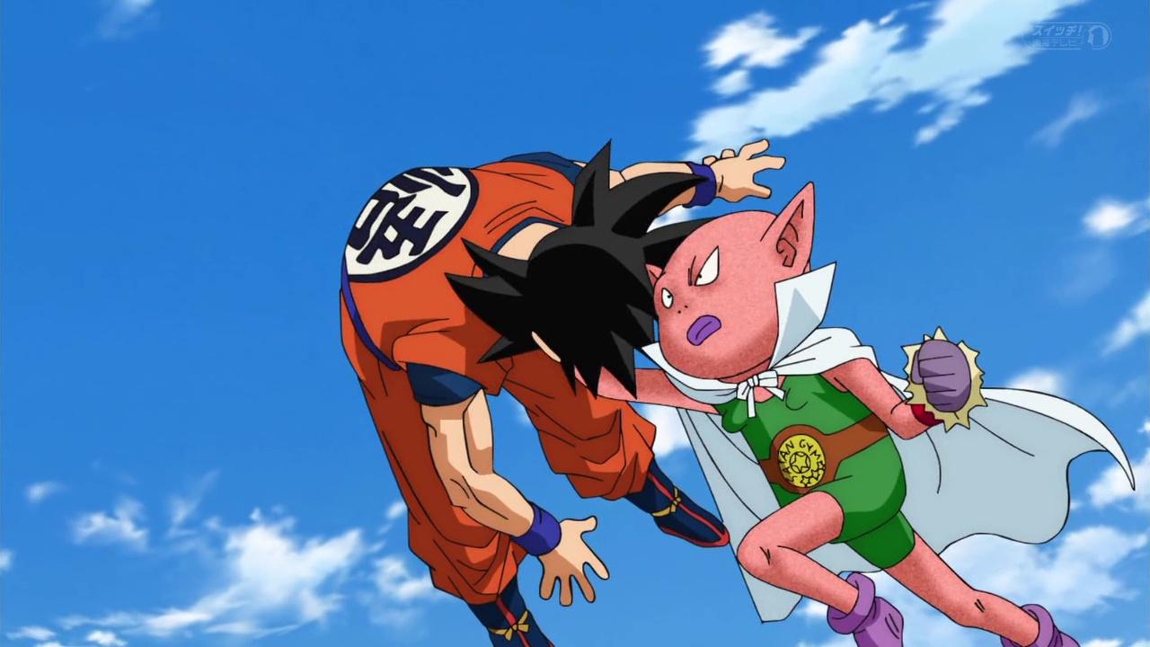 Dragon Ball Super Goku vs monaka beerus