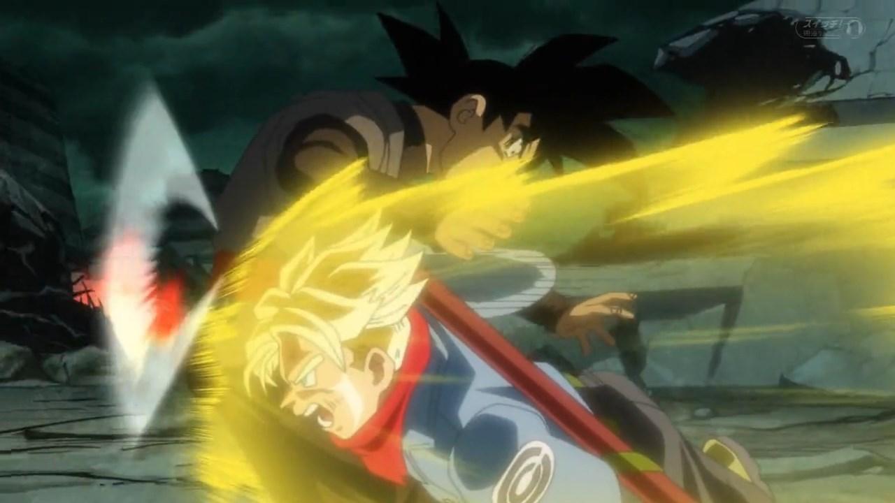 Dragon Ball Super Trunks SSJ VS Goku Black
