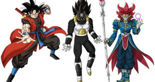 Goku Xeno - Vegeta Time Breaker - Demigra - Dragon Ball Heroes God Mission 9