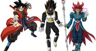 Goku Xeno - Vegeta Time Breaker - Demigra - Dragon Ball Heroes God Mission 9