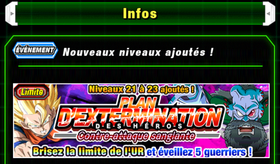 DBZ Dokkan Battle : nouvel event