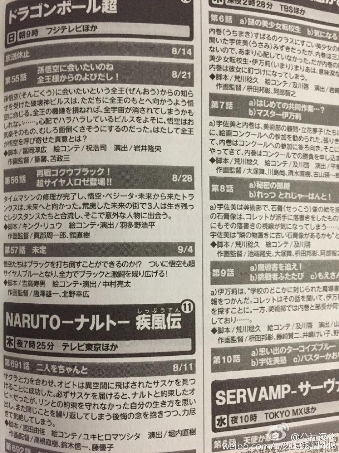 Dragon Ball Super : Résumés des épisodes 55, 56, 57
