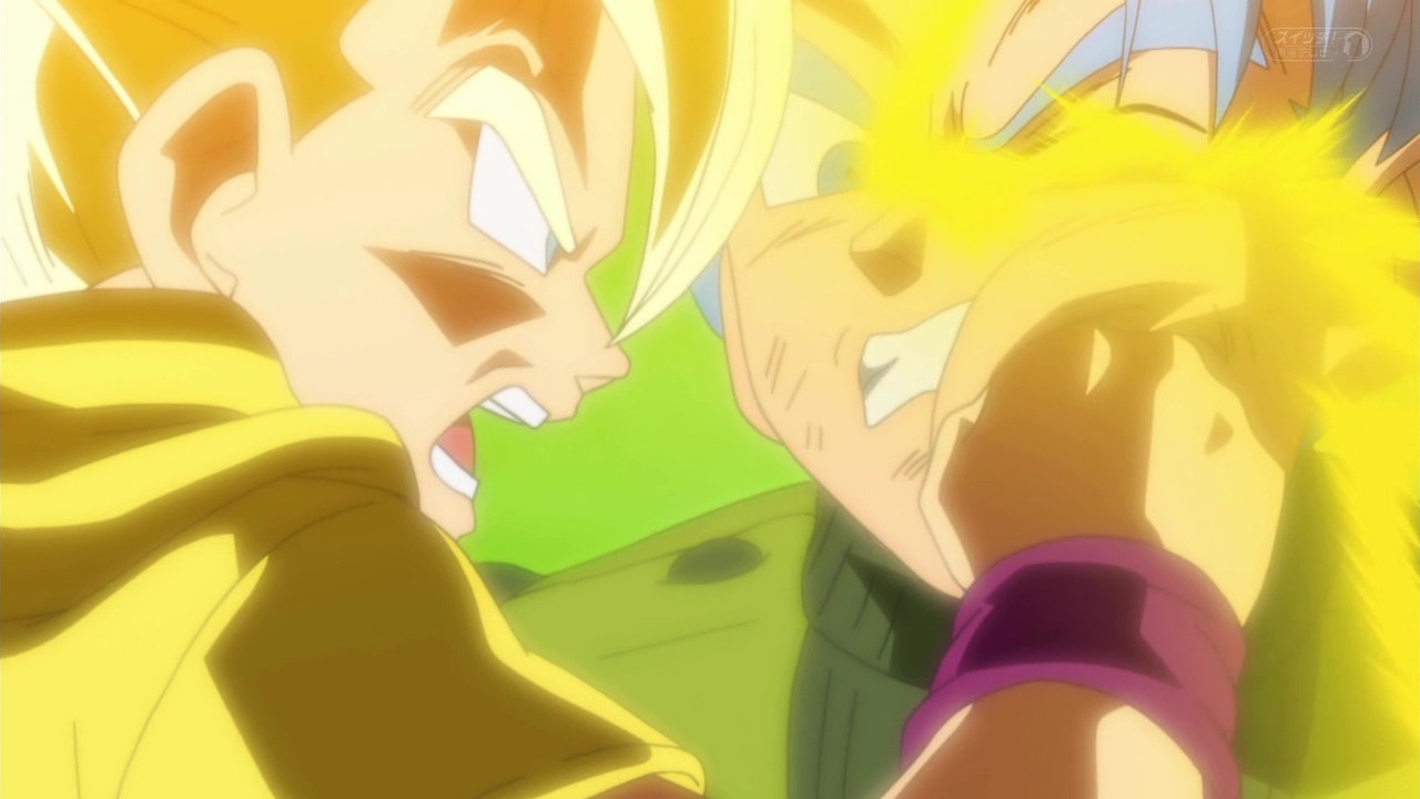 Dragon Ball Super Trunks vs mirai trunks