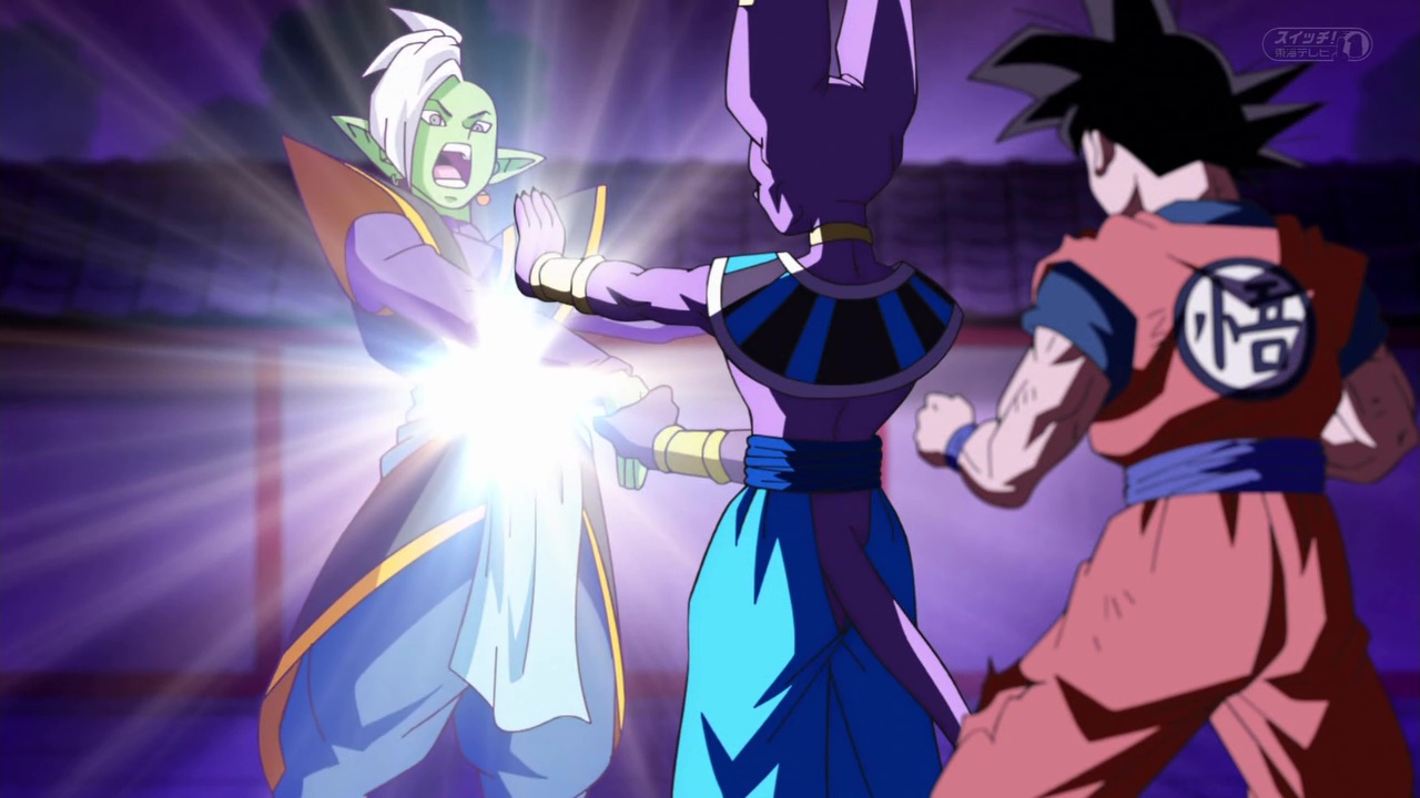 Dragon Ball Super Beerus tue Zamasu