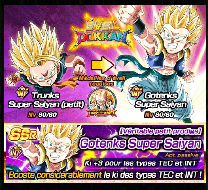 Le festival Dokkan de Gotenks Super Saiyan 3 dans Dragon Ball Z Dokkan Battle