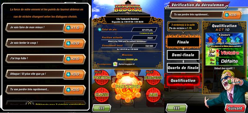 Le 12ème Tenkaichi Budokai dans Dragon Ball Z Dokkan Battle a commencé