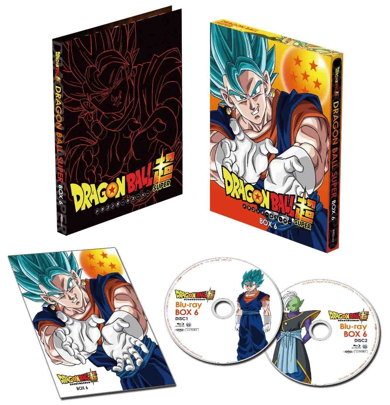 Dragon Ball Super : Packaging de la 6ème Box DVD Blu-ray japonaise