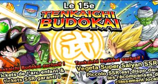 Le 15ème Tenkaichi Budokai dans Dragon Ball Z Dokkan Battle a commencé