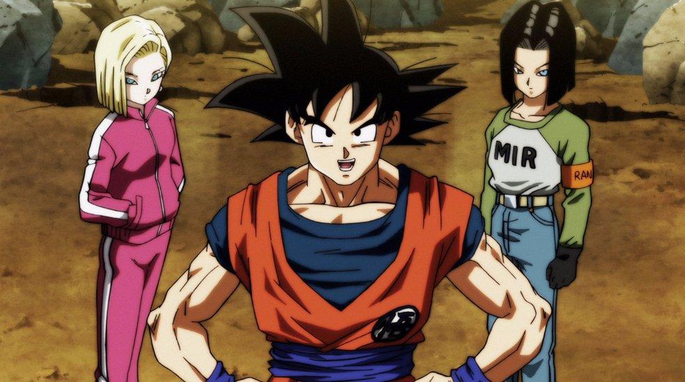 Goku, 17 e 18 (Dragon Ball Super - Episódio 101)