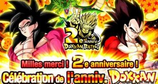 Dragon Ball Z Dokkan Battle fête ses 2 ans sur la version globale
