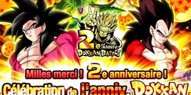 Dragon Ball Z Dokkan Battle fête ses 2 ans sur la version globale