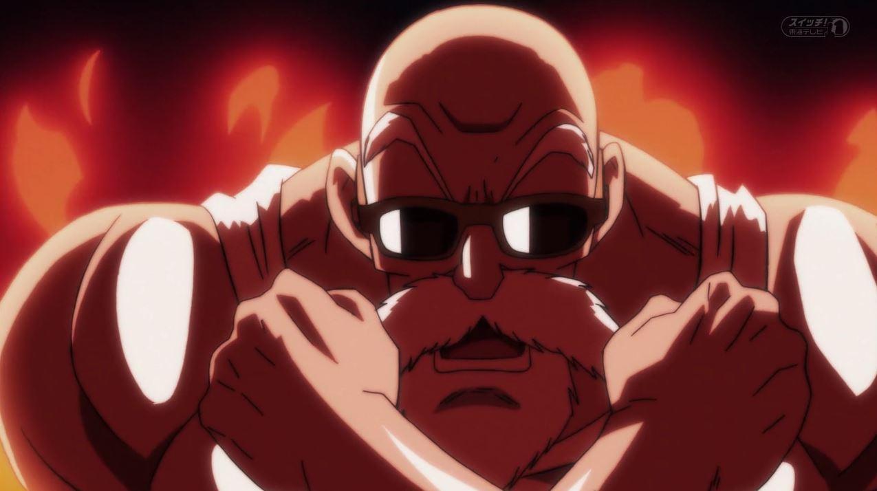 Kame-sennin vs Cawei dans Dragon Ball Super 105