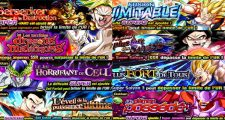 Dragon Ball Z Dokkan Battle : Event Dokkan PUI - Gogeta, Omega Shenron, Vegeta SSJ3, Gokû SSJ4, Cell, Broly, Gohan Ultime, Janemba