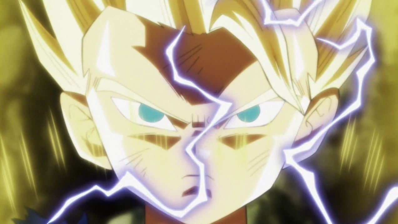 Cabbe devient un Super Saiyan 2 dans Dragon Ball Super 112