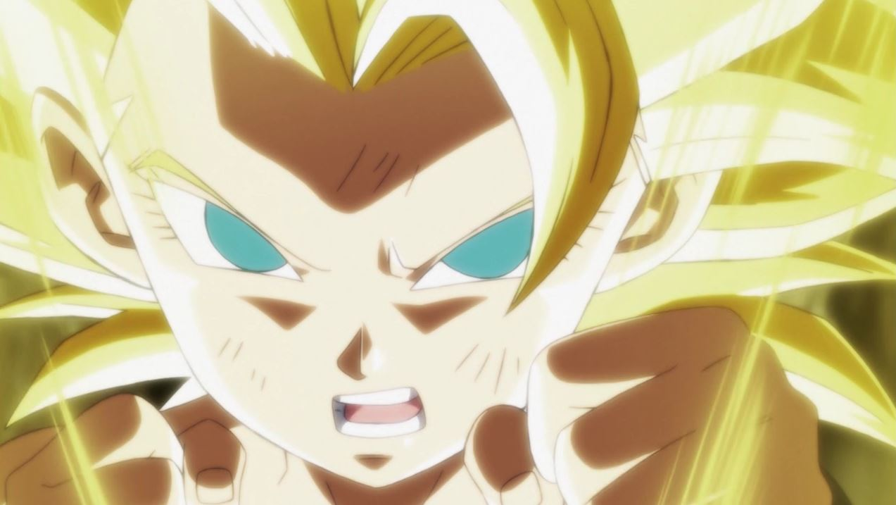 Gokû VS Caulifla dans Dragon Ball Super 113