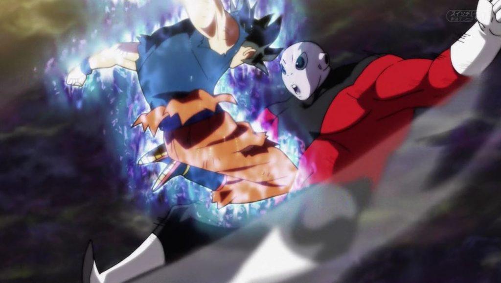 Gokû réussit à toucher Jiren grâce à l'Ultra Instinct