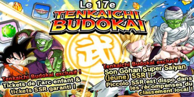 Le 17ème Tenkaichi Budokai dans Dragon Ball Z Dokkan Battle a commencé
