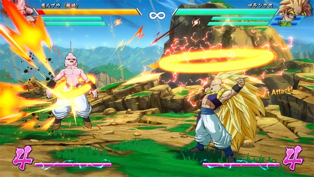 Dragon Ball FighterZ : Gotenks VS Kid Buu
