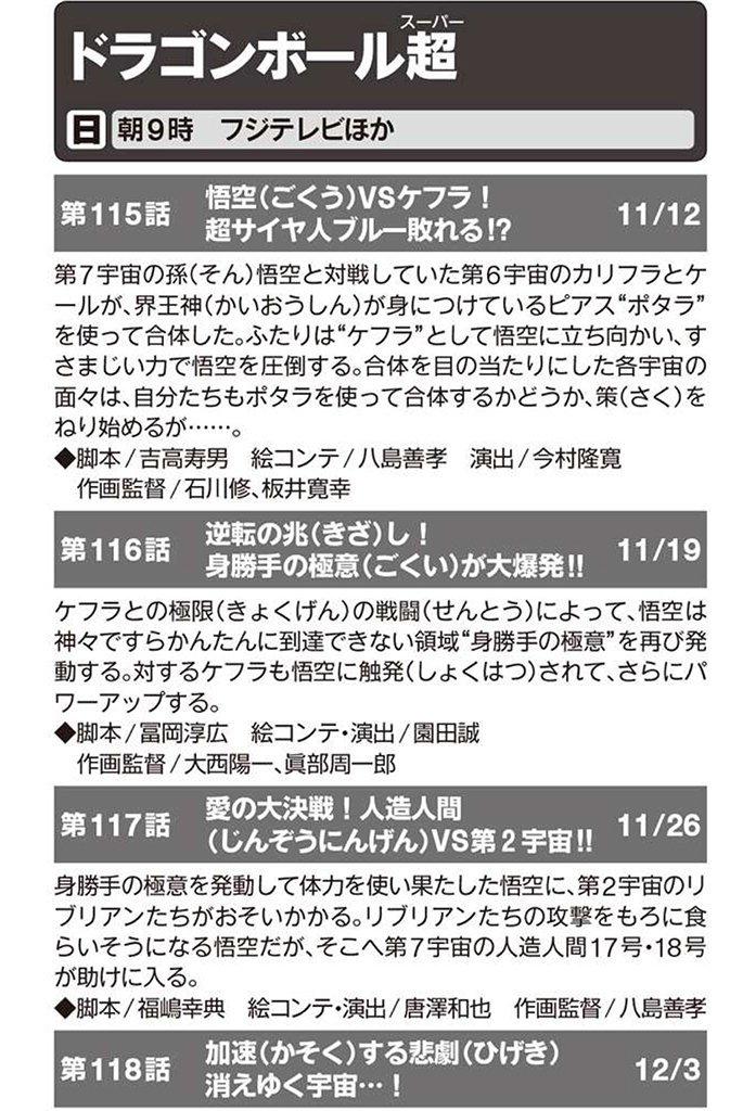 Dragon Ball Super - Títulos e Resumos dos Episódios 115, 116, 117 e 118