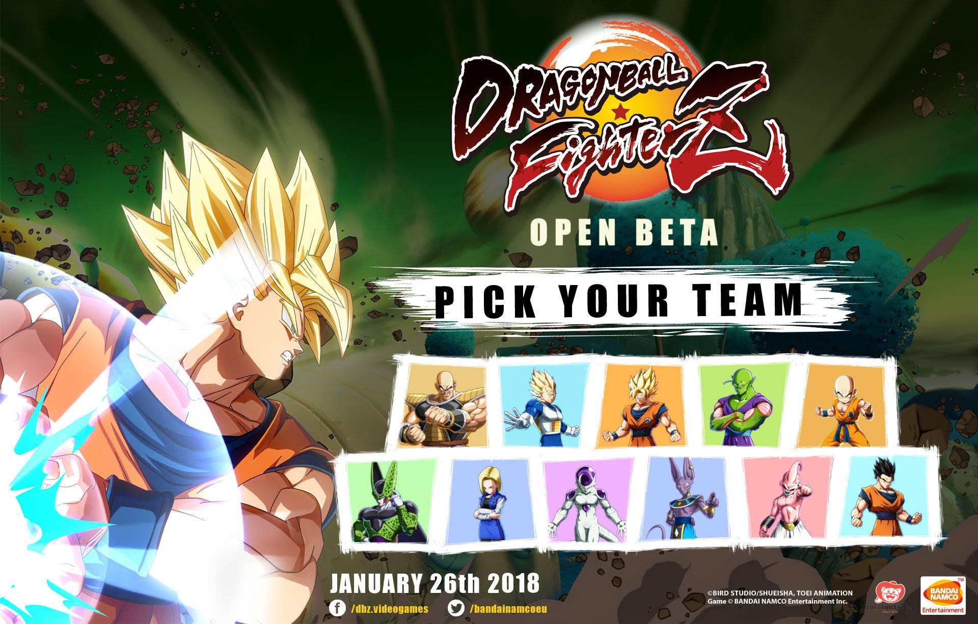 Dragon Ball FighterZ : Les personnages jouables de la Bêta ouverte