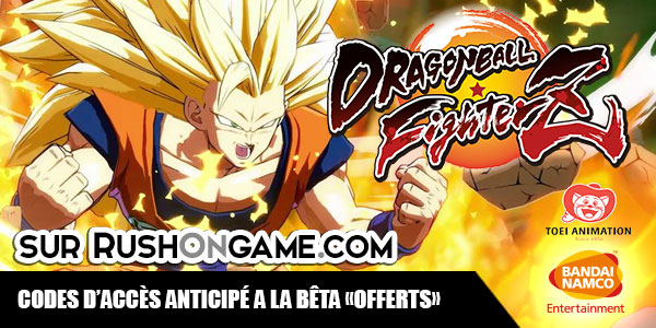 code d'accès à la bêta offert Dragon Ball FighterZ