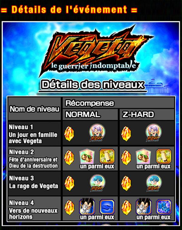 Dragon Ball Z Dokkan Battle : Vegeta le Guerrier Indomptable