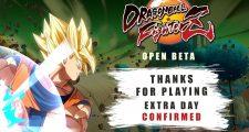 Prolongement de la Beta ouverte de Dragon Ball FighterZ