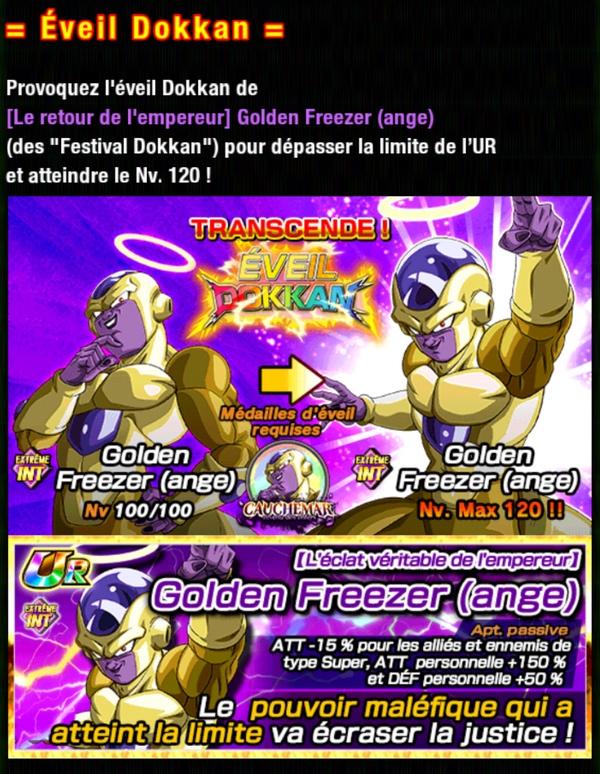 Dragon Ball Z Dokkan Battle : Cauchemar revenu des Enfers - Golden Freezer INT