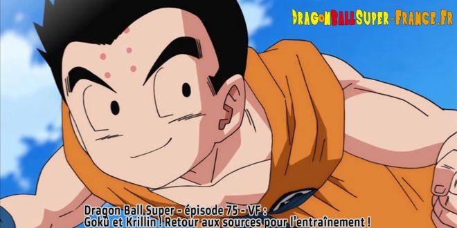 Dragon Ball Super Épisode 75 : Diffusion française - Krillin et Gokû