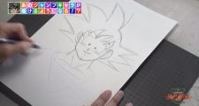 Toyotaro donne ses conseils pour bien dessiner Gokû dans l'émission JUMPolice