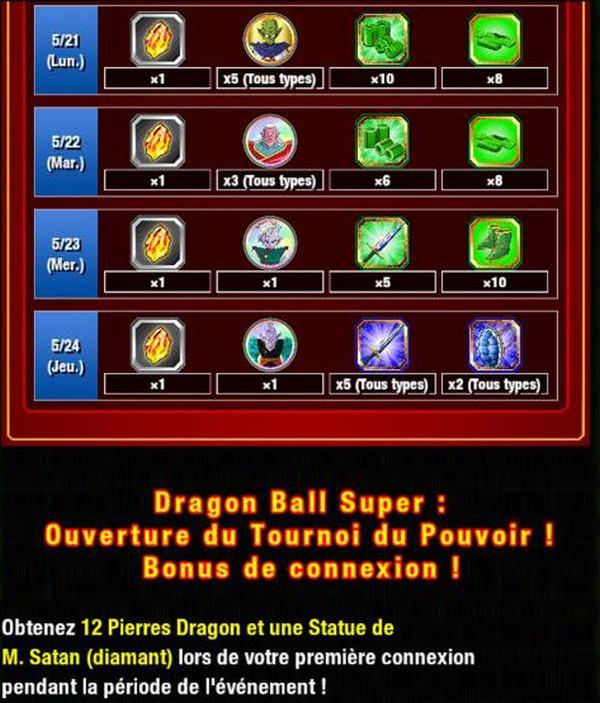 Dragon Ball Z Dokkan Battle : Lancement de la Campagne Tournoi du Pouvoir