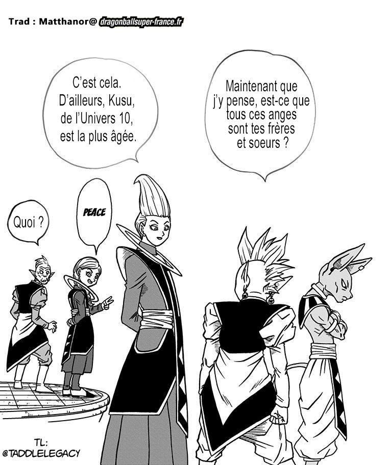 Manga Dragon Ball Super Volume 6 - Les Bonus - whis et sa famille