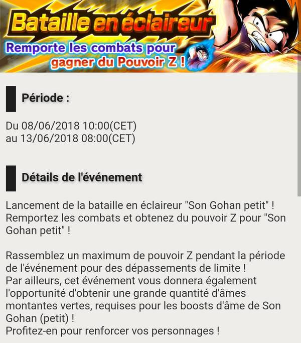 Dragon Ball Legends - Bataille en éclaireur - Son Gohan
