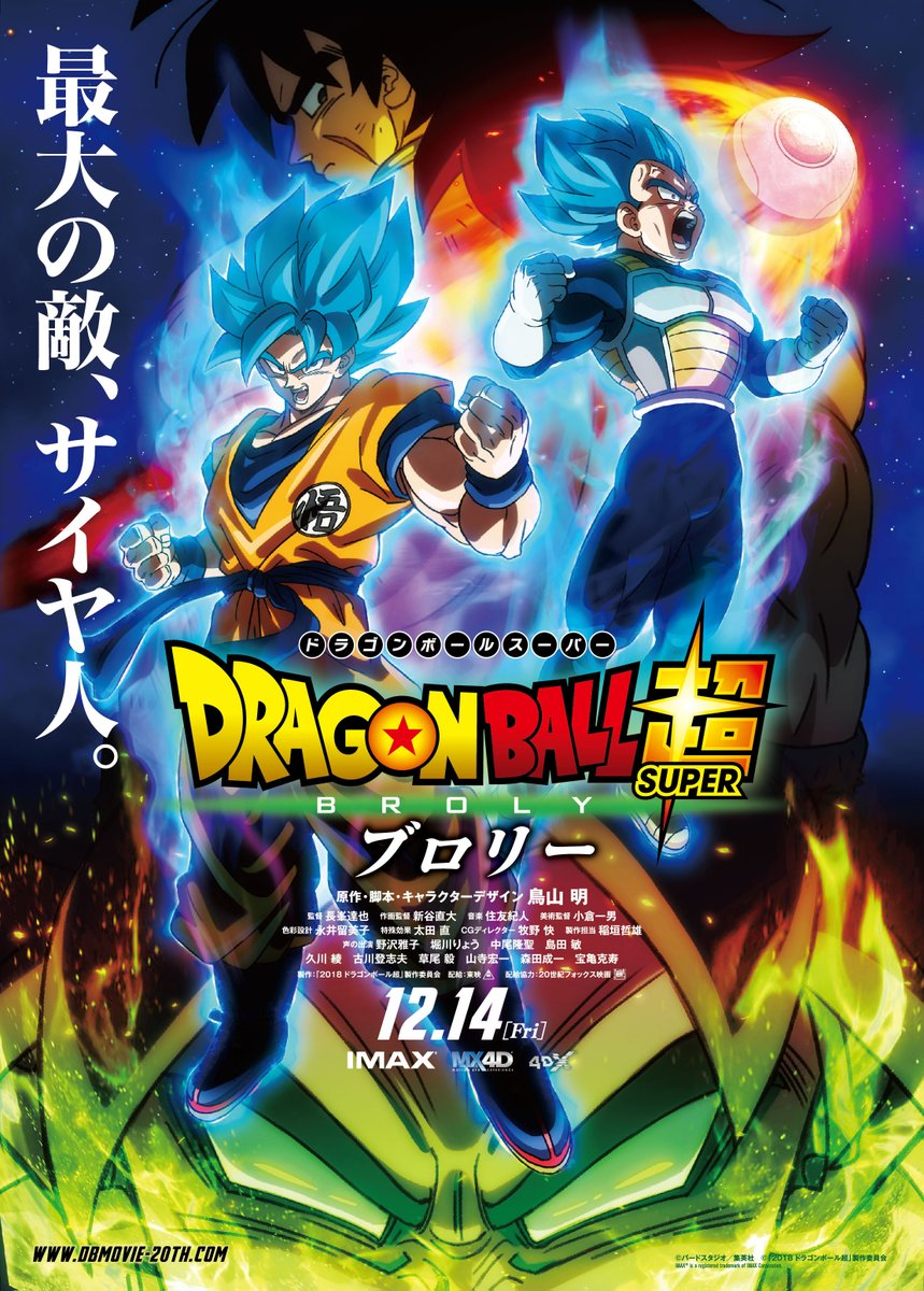 Dragon Ball Super le Film avec BROLY