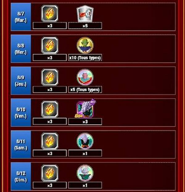 Dragon Ball Z Dokkan Battle : Campagne des 3 ans de Dokkan Battle - 2ème Partie