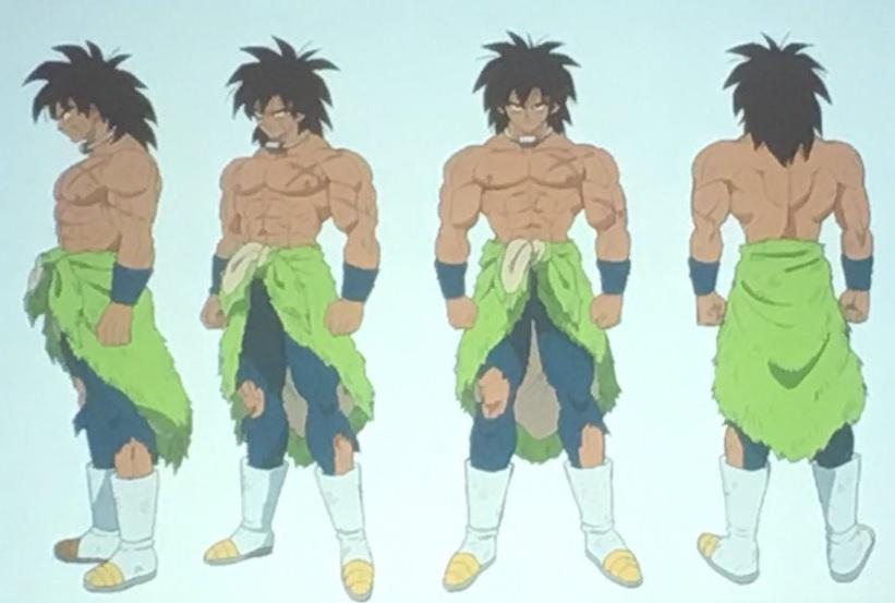 Chara design de Broly du film Dragon Ball Super par Shintani