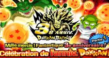 Dragon Ball Z Dokkan Battle : Campagne des 3 ans de Dokkan Battle