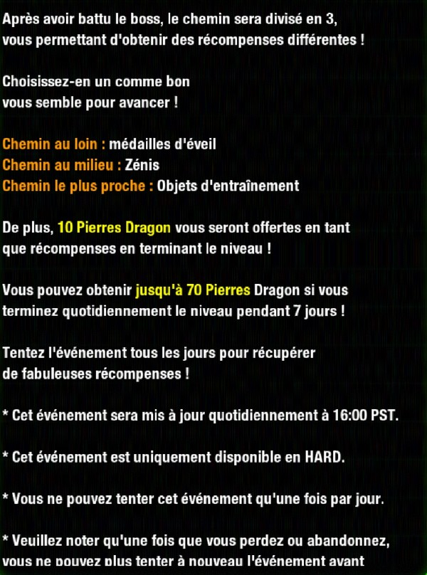 Dragon Ball Z Dokkan Battle : Chasse au trésor avec Lunch