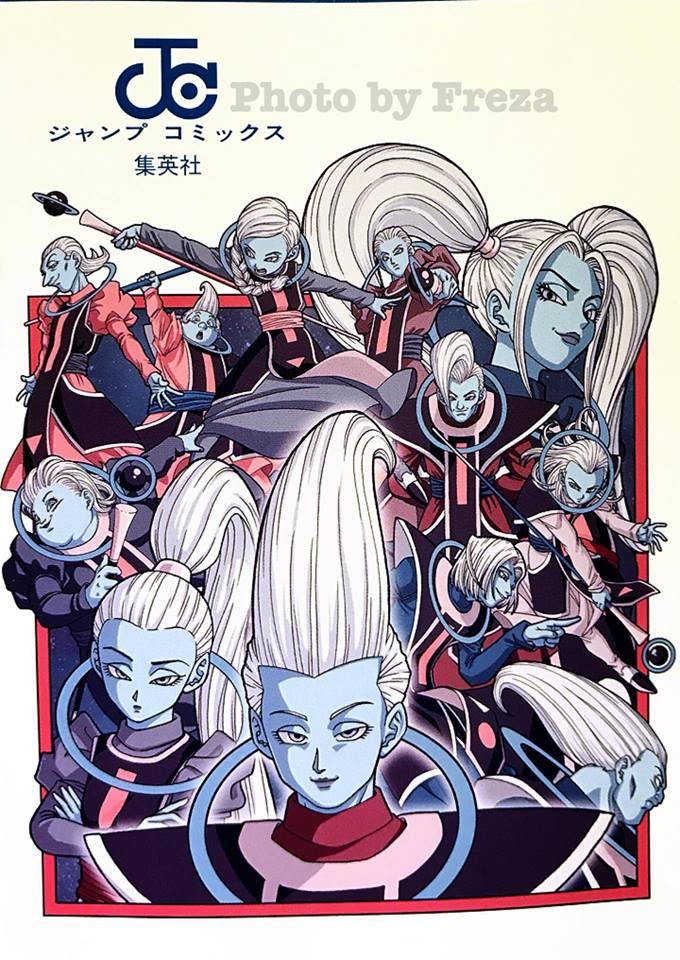 Illustration des anges au dos du tome 7 de Dragon Ball Super