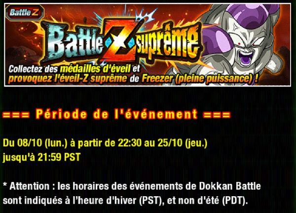 Dragon Ball Z Dokkan Battle : Freezer - Battle Z Suprême