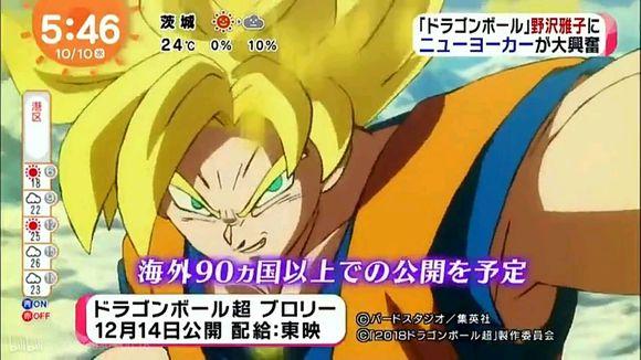 Dragon Ball Super BROLY prévu dans plus de 90 pays