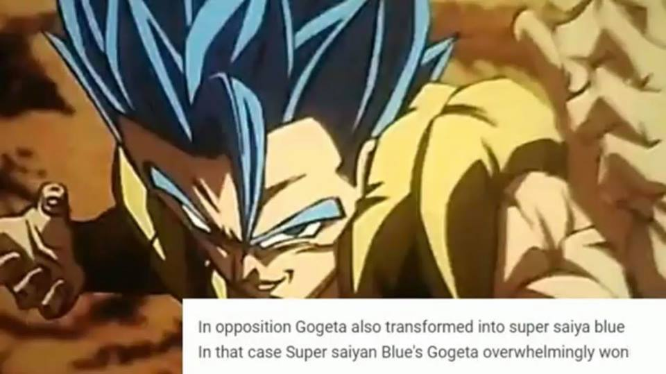 Dragon Ball Super Broly : Gogeta Super Saiyan Blue VS Broly