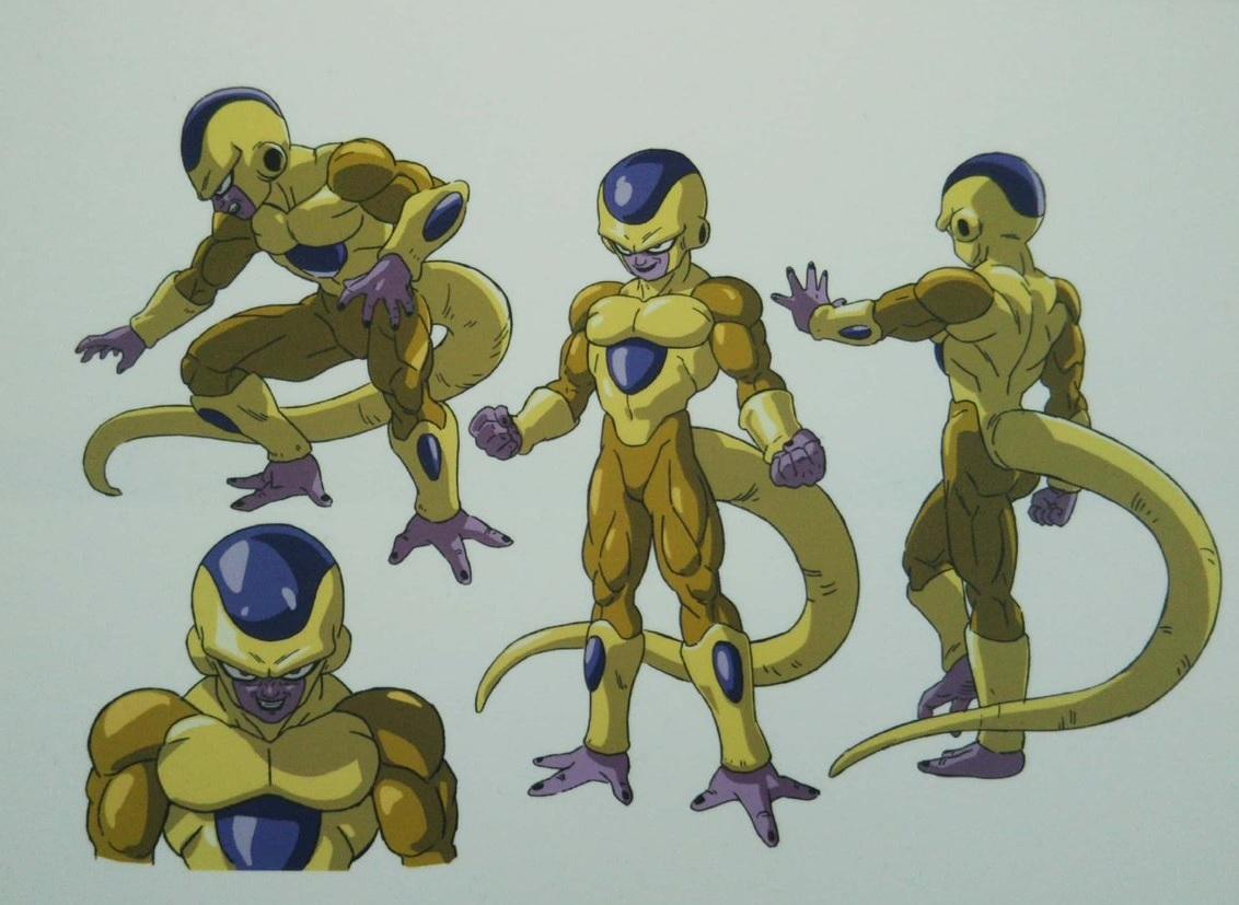 Chara Designs de Golden Freezer par Shintani - Dragon Ball Super Broly