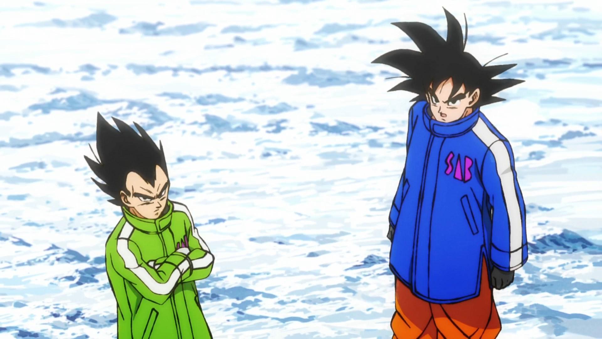 Dragon Ball Super BROLY : Goku et Vegeta en manteaux d'hiver SAB