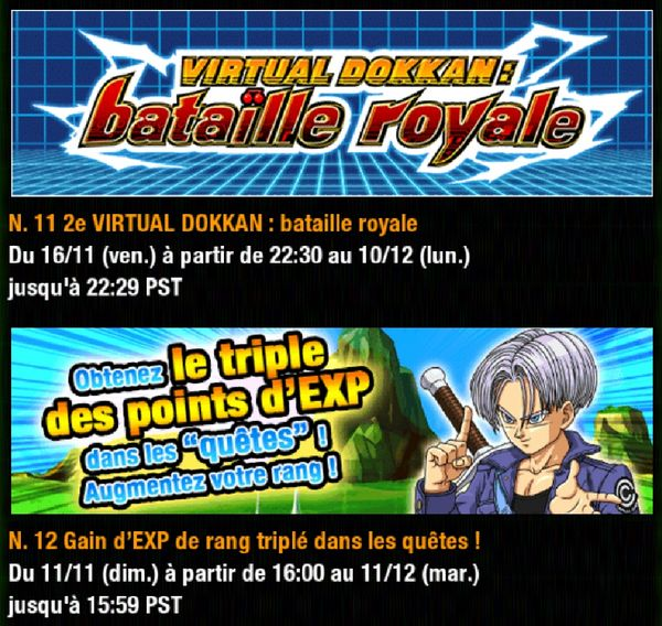 Dragon Ball Z Dokkan Battle : Campagne de célébration Dokkan - Un Grand Merci part 1