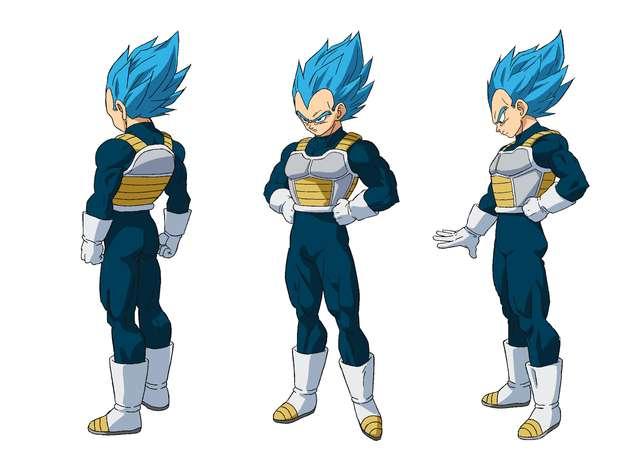 Dragon Ball Super BROLY : Character Design de Vegeta Super Saiyan Blue (SSGSS)