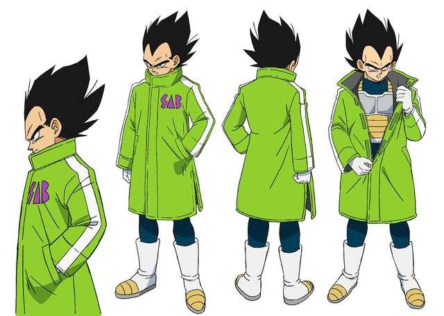 Dragon Ball Super BROLY : Character Design de Vegeta en manteau SAB