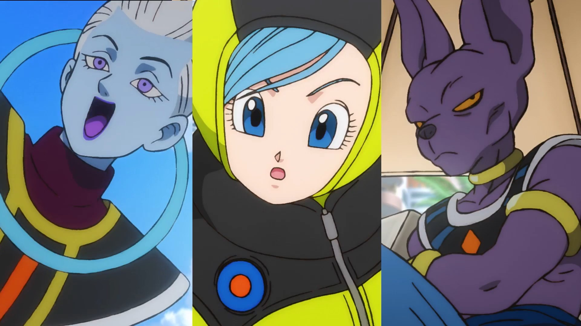Dragon Ball Super BROLY : Whis Bulma et Beerus