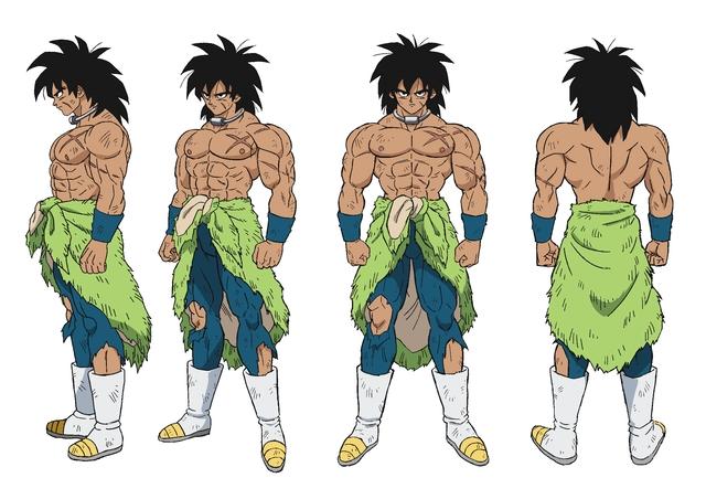 Character design de Broly par Naohiro Shintani pour le film Dragon Ball Super