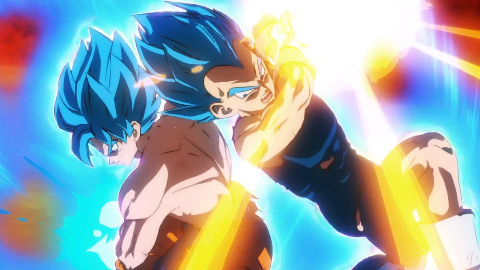 Dragon Ball Super Broly : Goku et Vegeta Blue VS Broly
